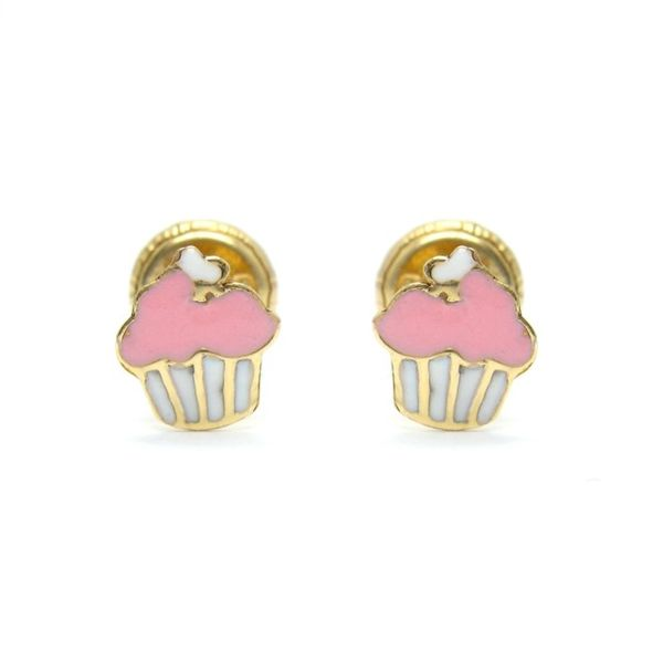 14k YG Baby Cupcake Earrings Arezzo Jewelers Chicago, IL