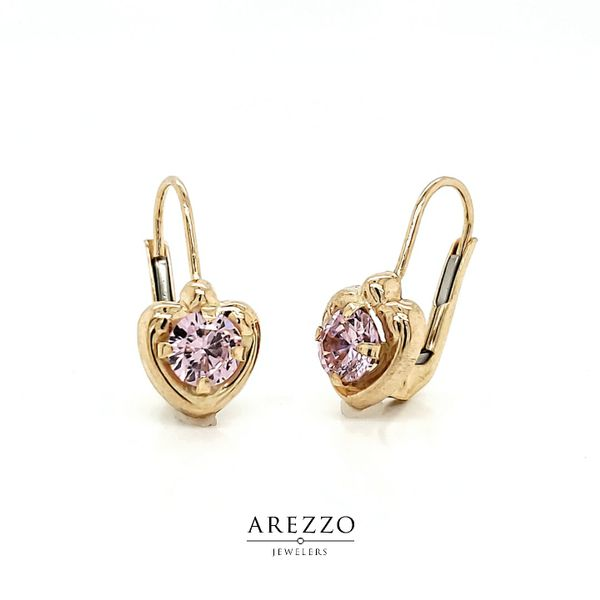 14k Yellow Gold Heart Leverback Earring Arezzo Jewelers Chicago, IL