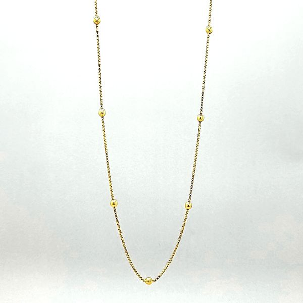 14k Yellow Gold Ball Bead Necklace Arezzo Jewelers Chicago, IL