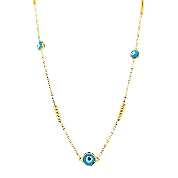14k Yellow Gold Evil Eye Necklace Arezzo Jewelers Chicago, IL