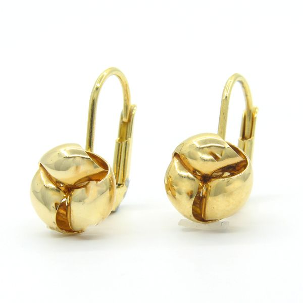 18k Yellow Gold Leverback Earrings Image 2 Arezzo Jewelers Elmwood Park, IL