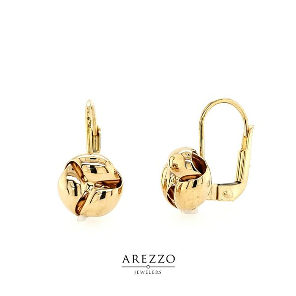 18k Yellow Gold Leverback Earrings Arezzo Jewelers Elmwood Park, IL