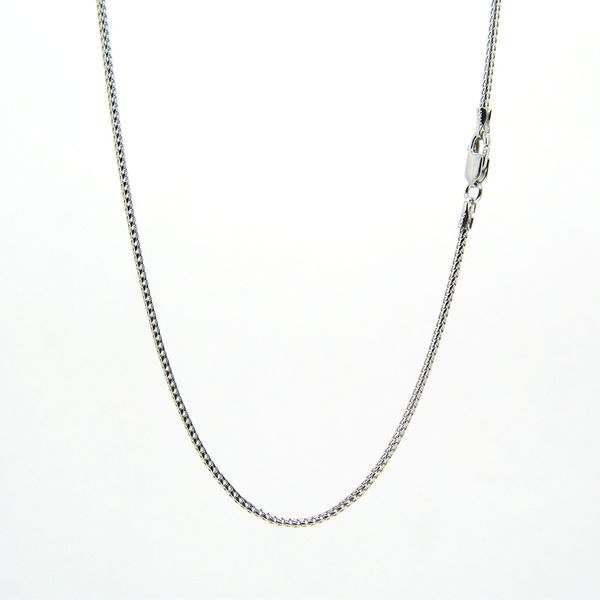 14K White Gold Chain - Franco Link Arezzo Jewelers Elmwood Park, IL