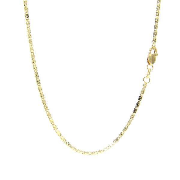 14k Yellow Gold Mirror Link Chain - 18