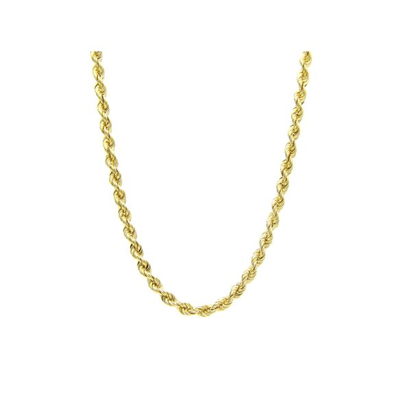 14K Yellow Gold Solid Rope Chain. - 18