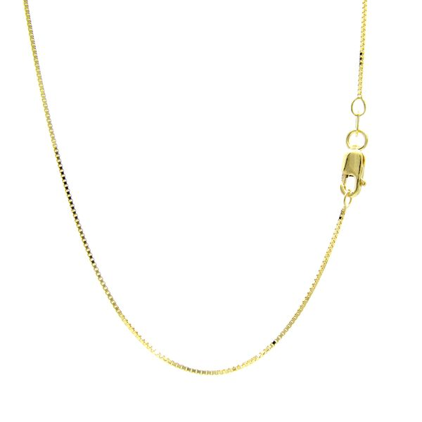 14 Karat Yellow Gold Thin Box Chain,16