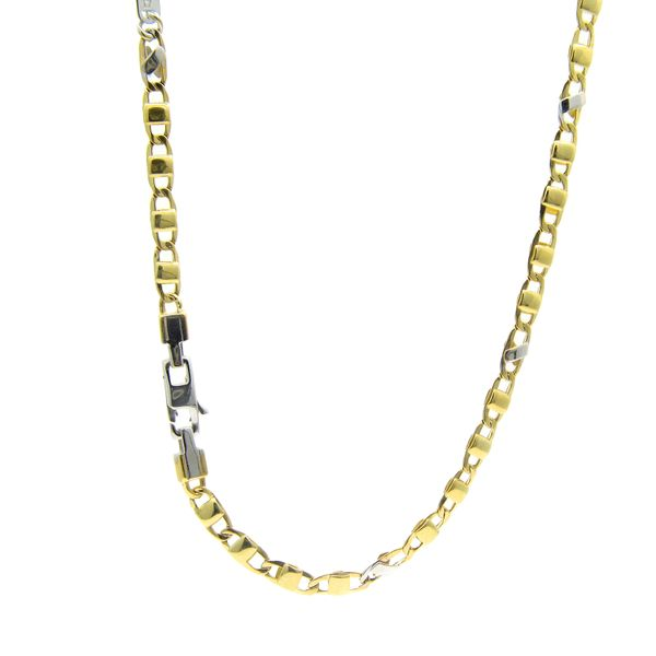 18k Gold Two Tone Fontana Chain - 24