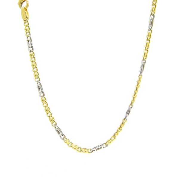 18k Two Tone Gold Chain, 24