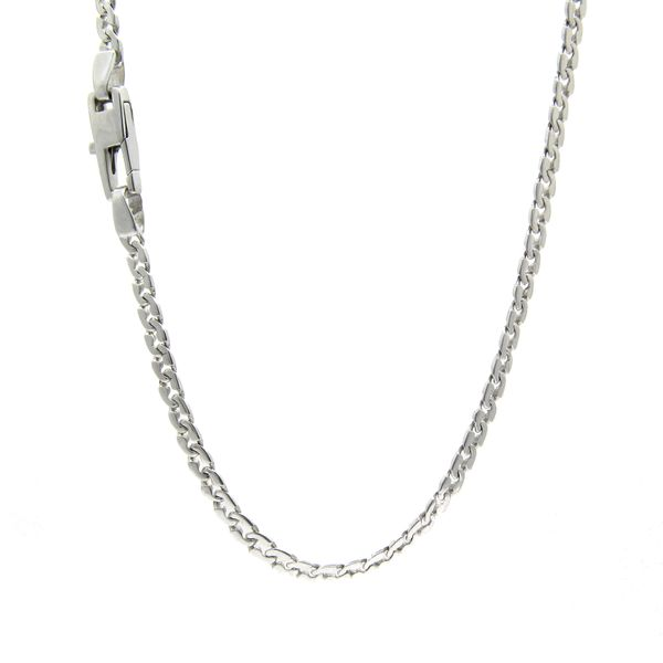 18k White Gold Fancy Link Chain - 24