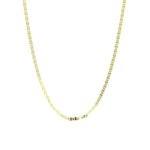 14k Yellow Gold Fancy Link Chain, 20
