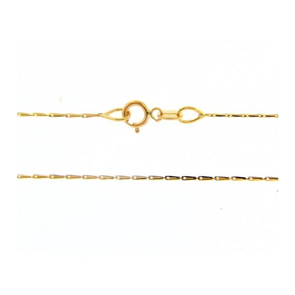 18k Yellow Gold Pendant Chain Image 2 Arezzo Jewelers Chicago, IL