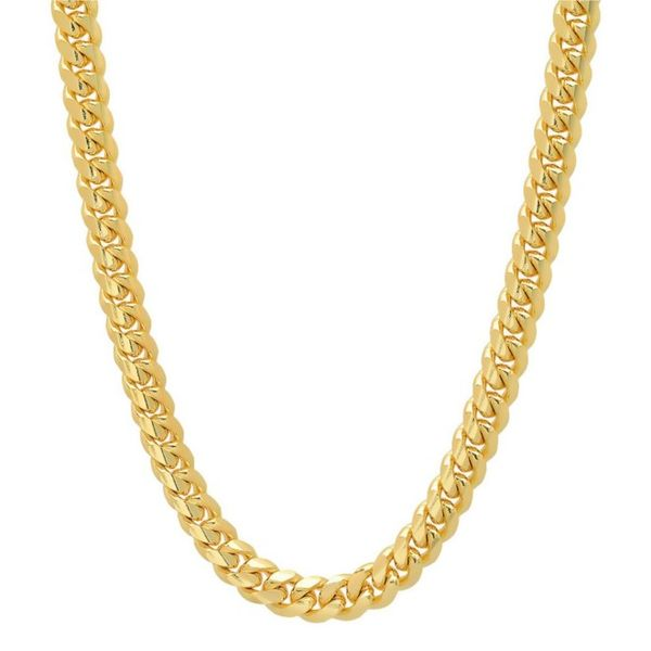 14k Yellow Gold Semi Hollow Miami Cuban Link Chain Arezzo Jewelers Chicago, IL