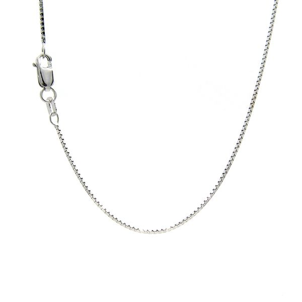 14k White Gold Box Chain, 22