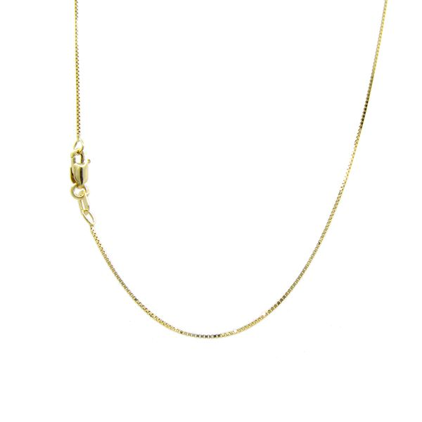 14k Yellow Gold Thin Box Chain. 18