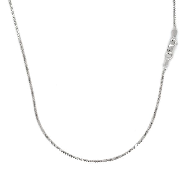 14k White Gold Wheat Chain, 18