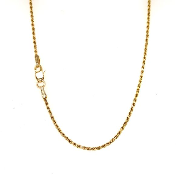 14k Yellow Gold Thin Rope Chain, 18