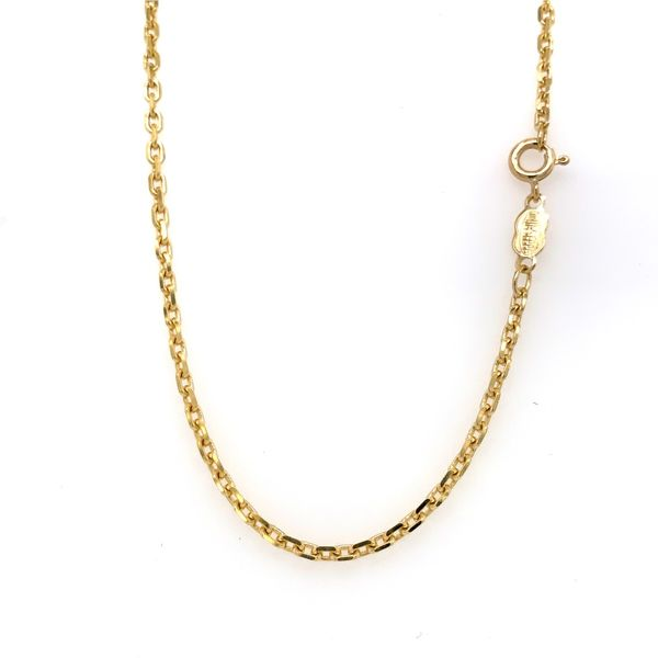 18k Yellow Gold Solid Link Chain, 20