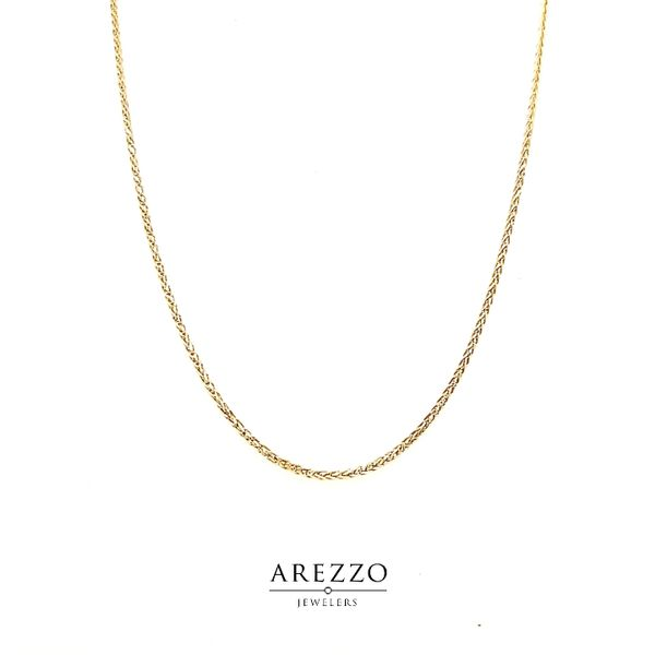 14k Yellow Gold Diamond Cut Wheat Chain Arezzo Jewelers Chicago, IL