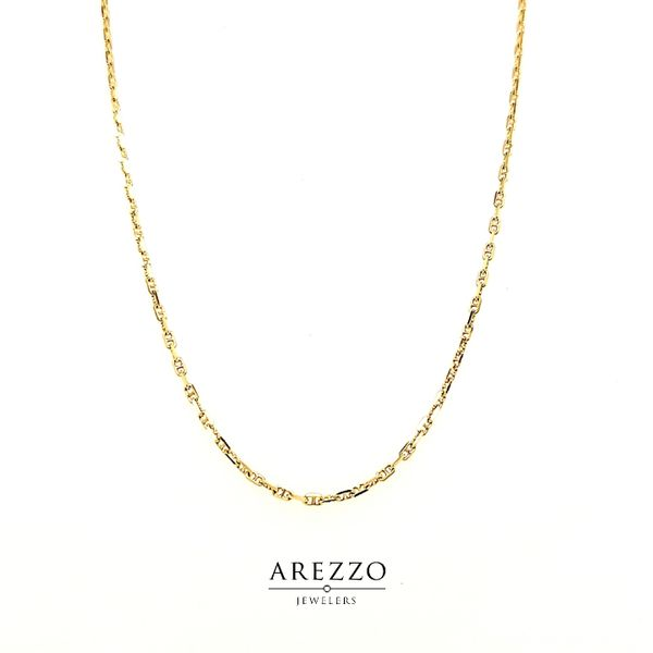 14k Yellow Gold Anchor Chain Arezzo Jewelers Chicago, IL
