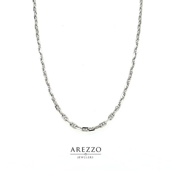 14k White Gold Anchor Chain Arezzo Jewelers Chicago, IL