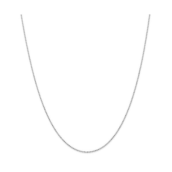 14k White Gold Beaded Chain Arezzo Jewelers Chicago, IL