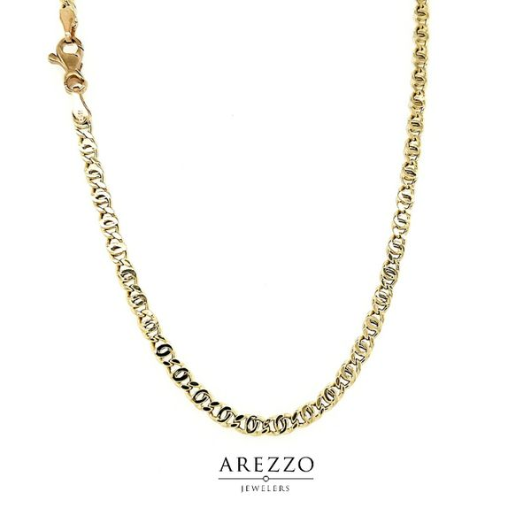 18k Yellow Gold Tiger Eye Link Chain Arezzo Jewelers Chicago, IL