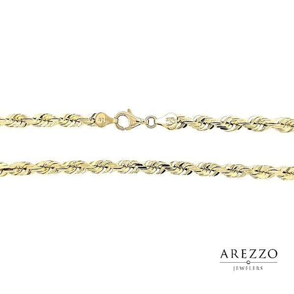 14k Yellow Gold 5mm D/C Rope Chain, 24