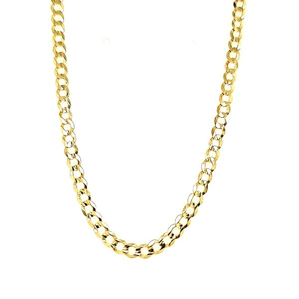 14k Yellow Gold Solid Curb Link Chain Arezzo Jewelers Chicago, IL