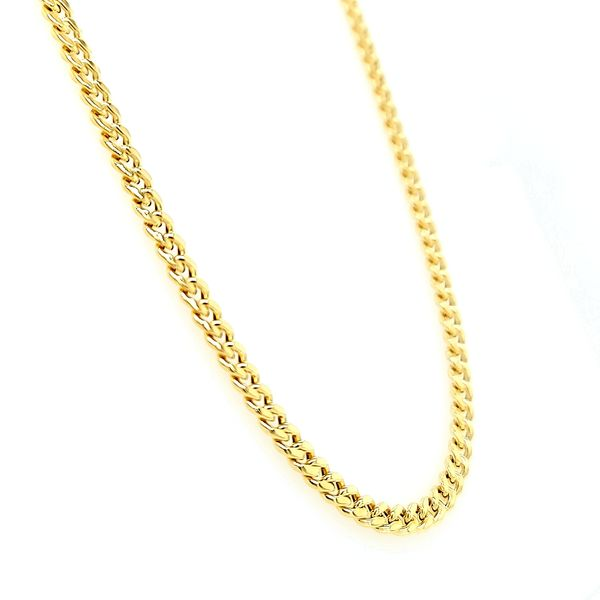 14K Yellow Gold Hollow Miami Cuban Chain Image 2 Arezzo Jewelers Chicago, IL