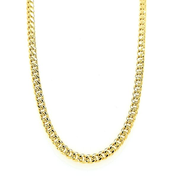 14K Yellow Gold Hollow Miami Cuban Chain Arezzo Jewelers Chicago, IL