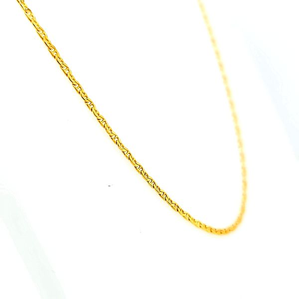 14k Yellow Gold Anchor Link Chain Image 2 Arezzo Jewelers Chicago, IL