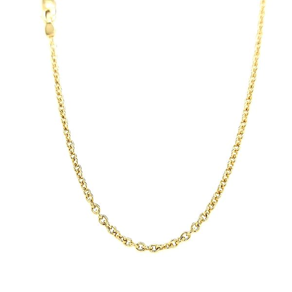 14k Yellow Gold Heavy Rolo Chain Arezzo Jewelers Chicago, IL