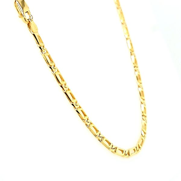 14k Yellow Gold Partridge Eye Link Chain Image 2 Arezzo Jewelers Chicago, IL