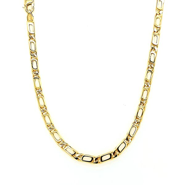 14k Yellow Gold Partridge Eye Link Chain Arezzo Jewelers Chicago, IL