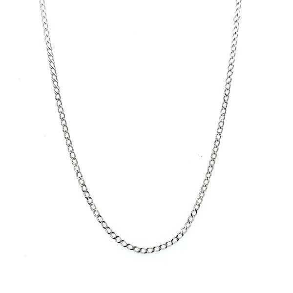 14k White Gold Curb Chain Arezzo Jewelers Chicago, IL