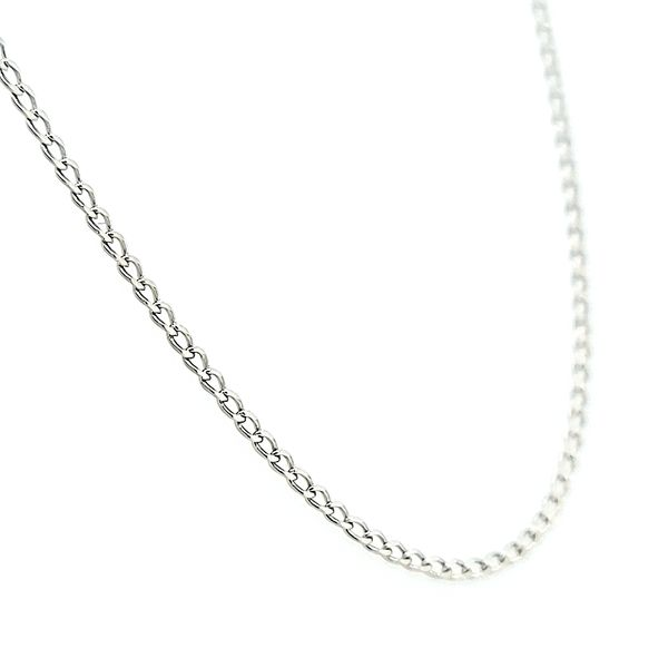 14k White Gold Curb Chain Image 2 Arezzo Jewelers Chicago, IL