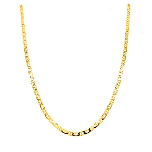 14k Yellow Gold Solid Anchor Chain, 22