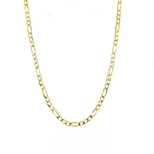 14k Yellow Gold 2.2mm Figaro Link Chain Arezzo Jewelers Elmwood Park, IL