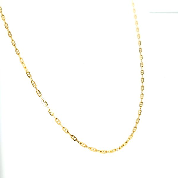 18k Yellow Gold 1.6mm Fancy Anchor Chain Image 2 Arezzo Jewelers Chicago, IL