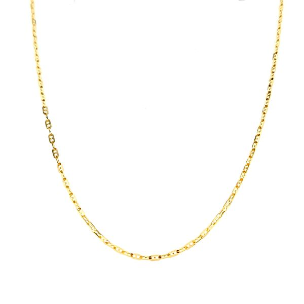 18k Yellow Gold 1.6mm Fancy Anchor Chain Arezzo Jewelers Chicago, IL