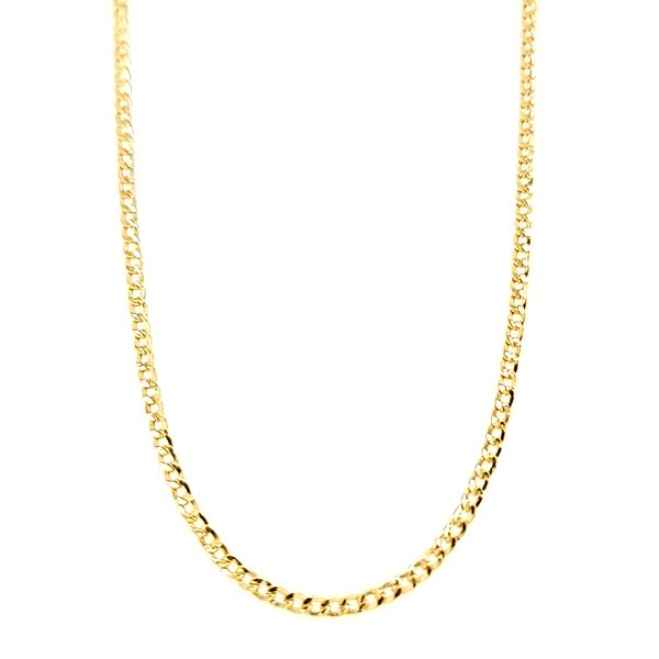 18k Yellow Gold Solid Curb Chain, 24