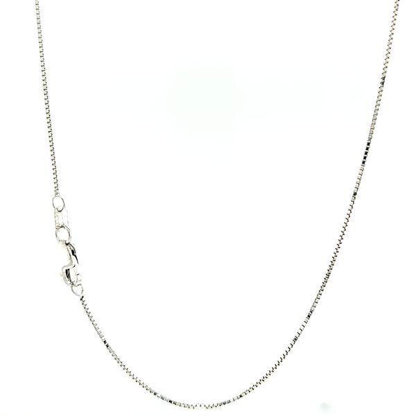 14k White Gold Thin Box Link Chain Arezzo Jewelers Elmwood Park, IL