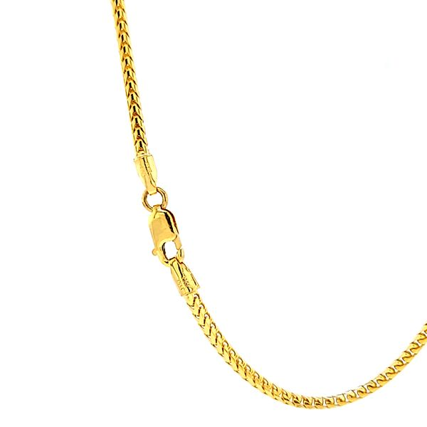 14k Yellow Gold 1.7mm Solid Franco Link Chain Image 2 Arezzo Jewelers Chicago, IL
