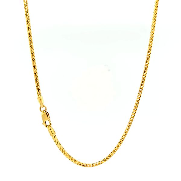 14k Yellow Gold 1.7mm Solid Franco Link Chain Arezzo Jewelers Chicago, IL