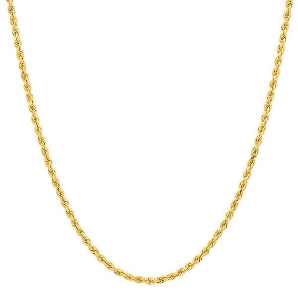14k Yellow Gold 2.9mm Solid Rope Chain, 22