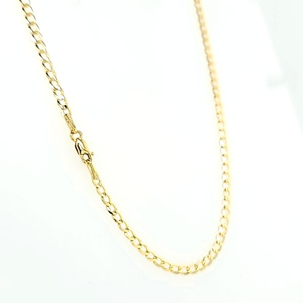14k Yellow Gold 2.5mm Flat Cuban Chain Image 2 Arezzo Jewelers Elmwood Park, IL