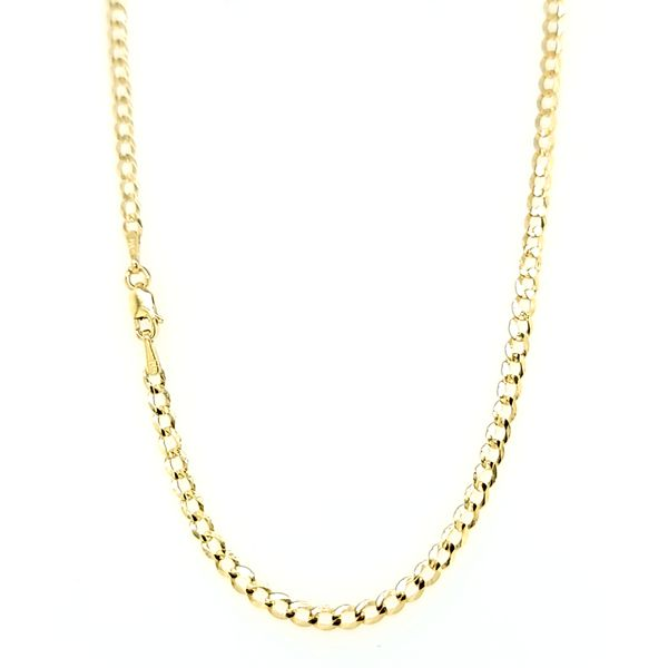 14k Yellow Gold 2.5mm Flat Cuban Chain Arezzo Jewelers Elmwood Park, IL