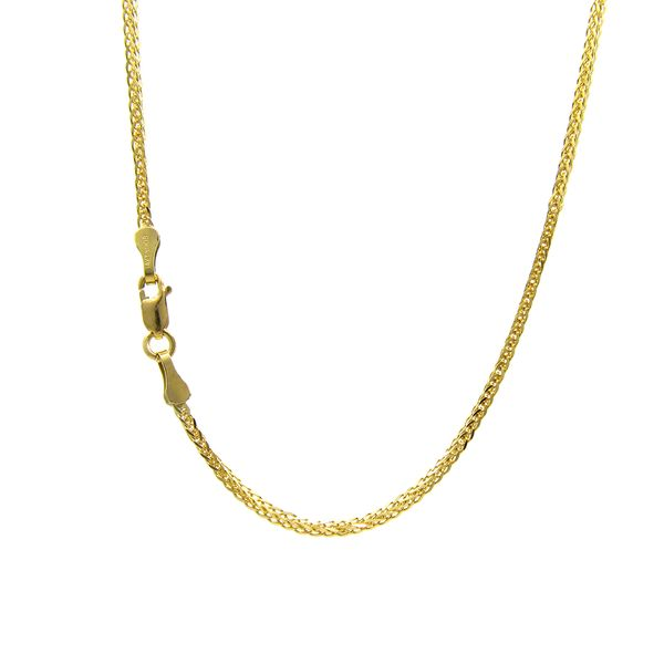 14k Yellow Gold 1mm Spiga Chain, 18