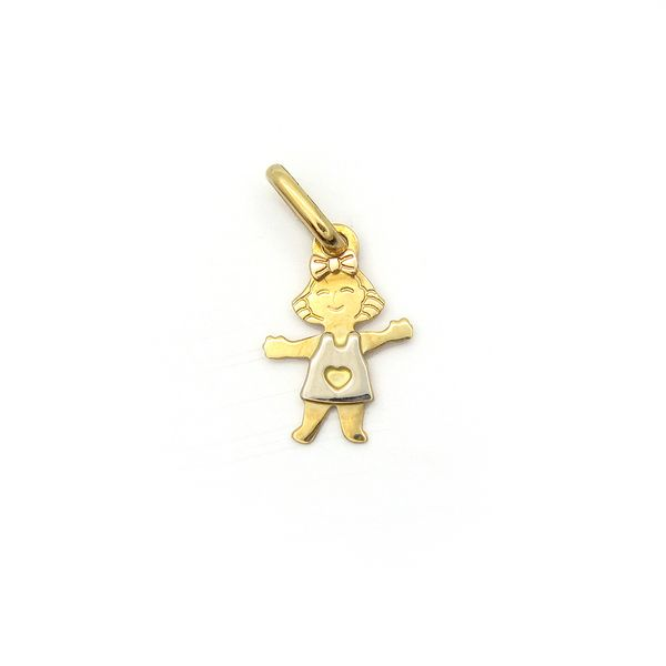 18K Two Tone Little Girl Small Gold Charm Arezzo Jewelers Chicago, IL
