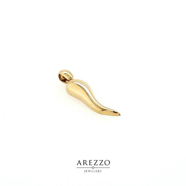 18k Yellow Gold Italian Horn Charm Image 2 Arezzo Jewelers Chicago, IL